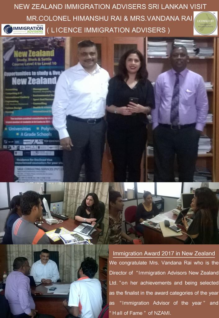 Sri Lankan visit of New Zealand Immigration Advisers Mr